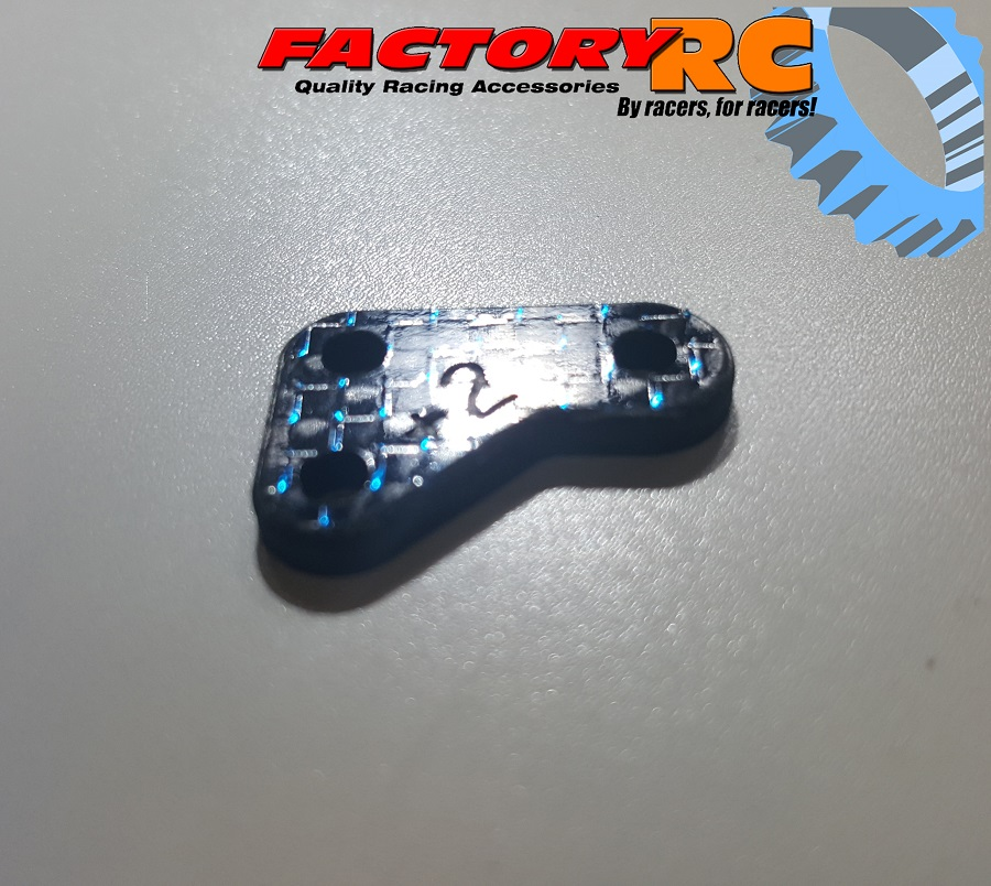 Factory RC Blue Weave Carbon Fiber Steering Blocks (1)