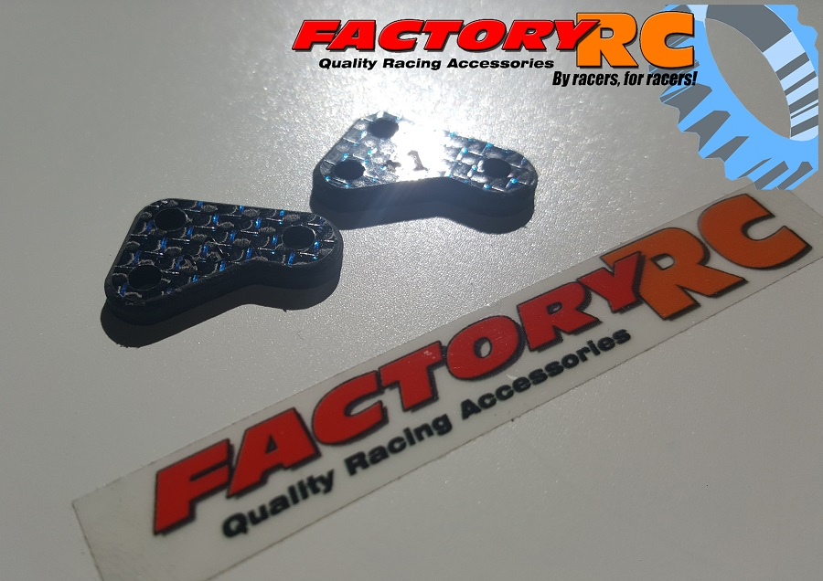 Factory RC Blue Weave Carbon Fiber Steering Blocks (2)