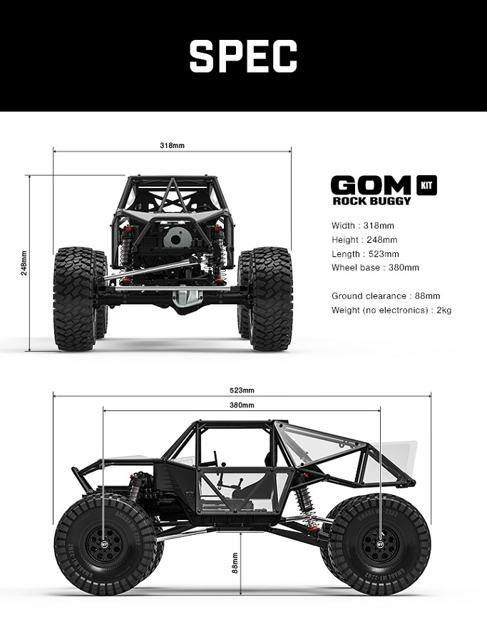 Gmade 1_10 GR01 Chassis Rock Buggy GOM 4WD Kit (1)