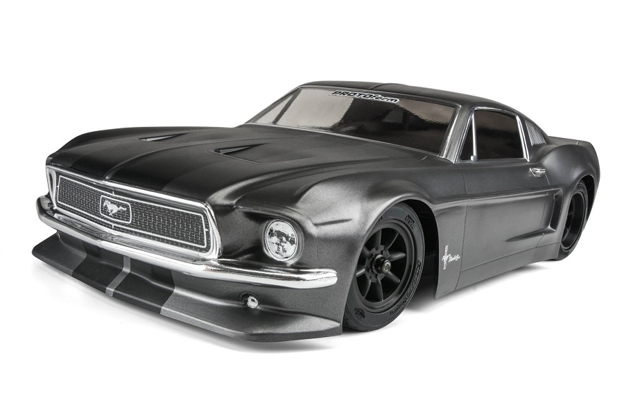 Protoform Clear 1968 Ford Mustang Body Rc Car Action