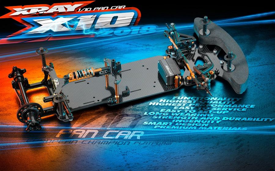 XRAY X10 '18 200mm Pan Car Kit (2)