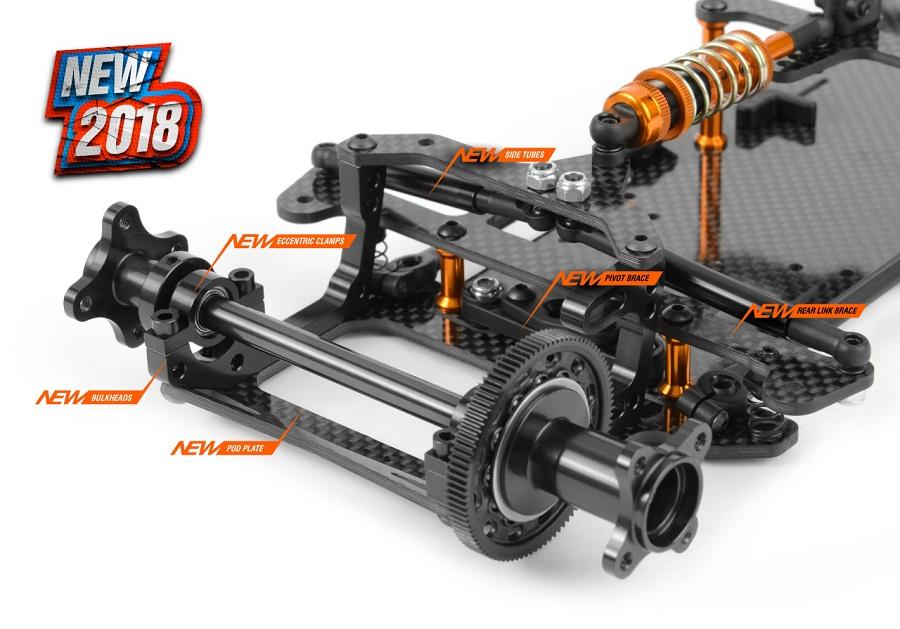 XRAY X10 '18 200mm Pan Car Kit (5)