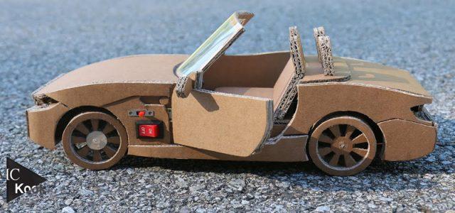 This Custom Cardboard BMW Z4 is Full RC [VIDEO]