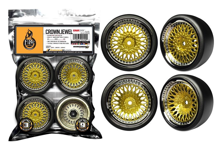 FireBrand RC CrownJewel-DSR39 On-Road Drift Wheels (2)