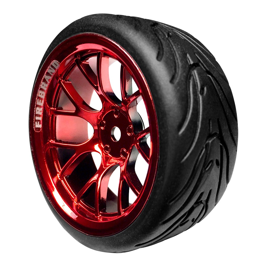 FireBrand RC HyperNova-RT On-Road Wheels & Fang Tires (3)
