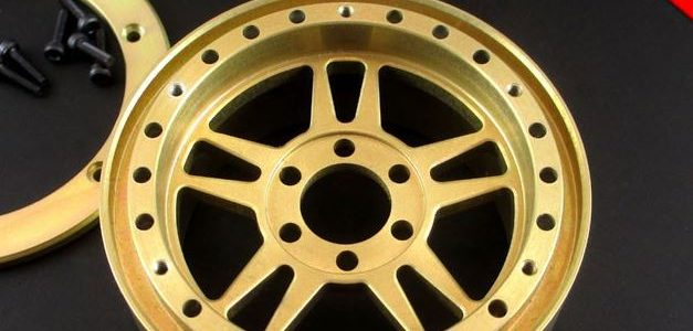 Locked Up RC 2.2″ Adversary SLW Golden Chromate Wheels