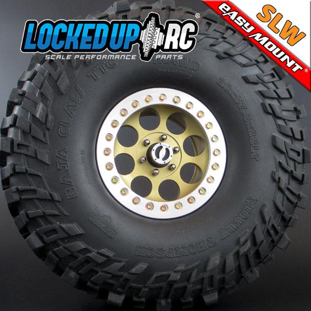 Locked Up RC 2.2 Iconic SLW Golden Chromate Wheels (2)