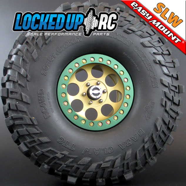Locked Up RC 2.2 Iconic SLW Golden Chromate Wheels (3)