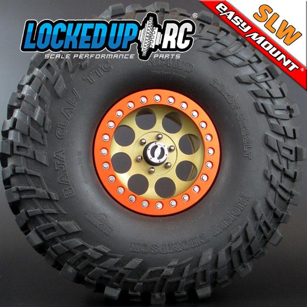 Locked Up RC 2.2 Iconic SLW Golden Chromate Wheels (4)