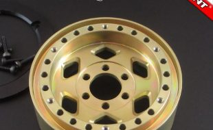 Locked Up RC Rock Cutter SLW Golden Chromate Wheels