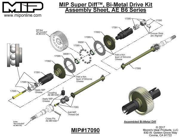 MIP Bi-Metal Super Diff 13.5 Drive Kit For The B6 (67mm) (4)