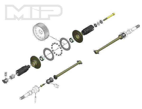 MIP Bi-Metal Super Diff 13.5 Drive Kit For The B6 (67mm) (5)