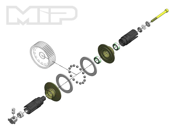 MIP Bi-Metal Super Diff Kit For Team Associated B6 & B6D (1)