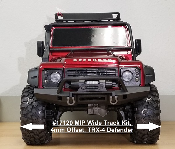 MIP Wide Track Kit (4mm Offset) For The Traxxas TRX-4 (2)