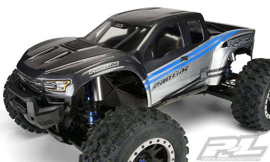 Pro-Line Pre-Painted & Cut 2017 Ford F-150 Raptor Body (3)