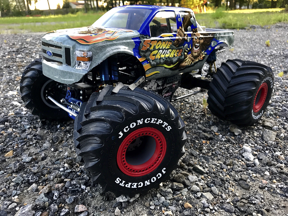 Monster Jam, Stone Crusher, SWMS, KK2, Freestyle RC, Traxxas, T-Maxx, Hot Racing, Castle Creations, Losi, SCTE, JConcepts, CPE