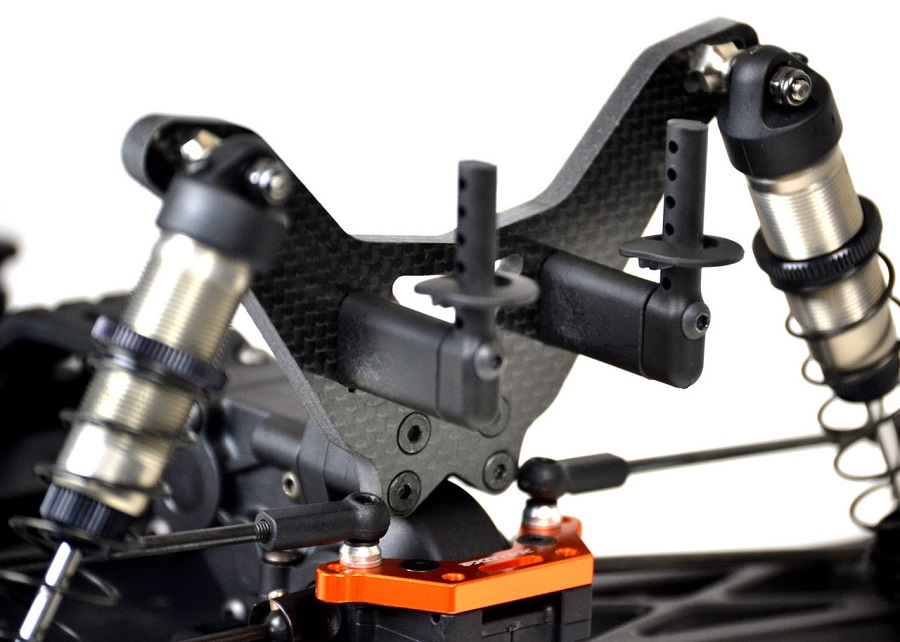 ExoTek 5mm Carbon Fiber Shock Towers For The XRAY XT2 (4)