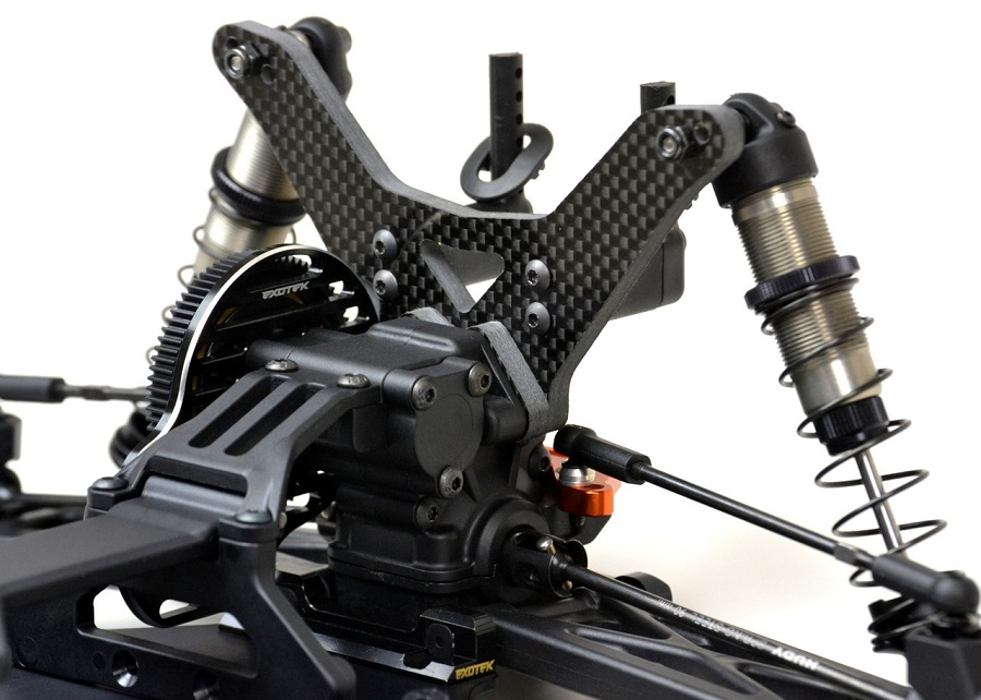 ExoTek 5mm Carbon Fiber Shock Towers For The XRAY XT2 (7)