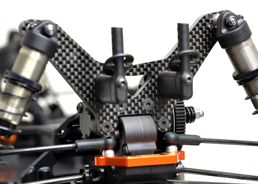 ExoTek 5mm Carbon Fiber Shock Towers For The XRAY XT2 (8)