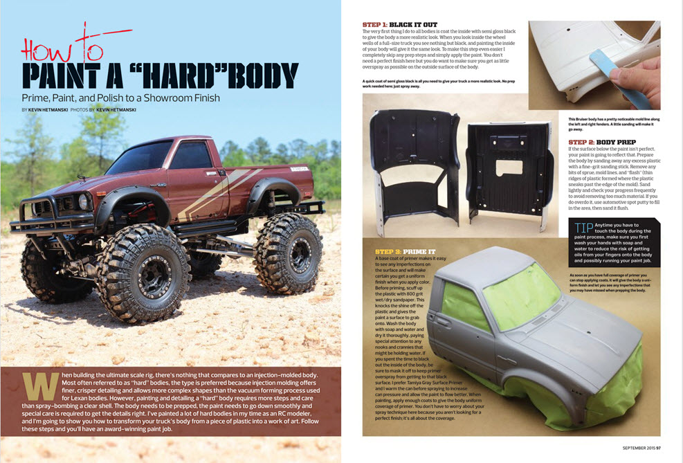 How To Paint A Hard Body Rc Car Action