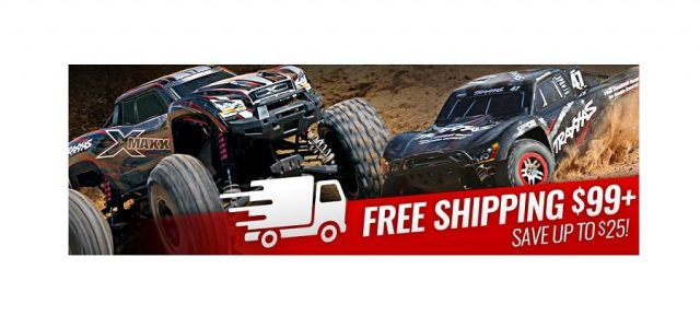 Traxxas Now Offers Free Shipping On Orders Over $99