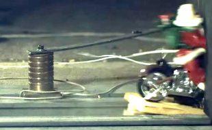Watch Santa Blast His Bike Into a Wall at 120mph [VIDEO]