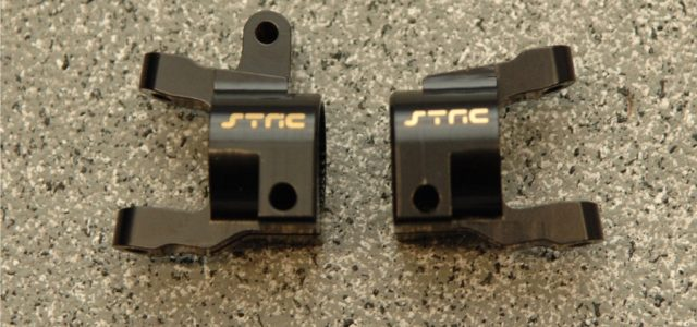 STRC SCX10 II Brass Front C-Hub & Lower Shock Mounts