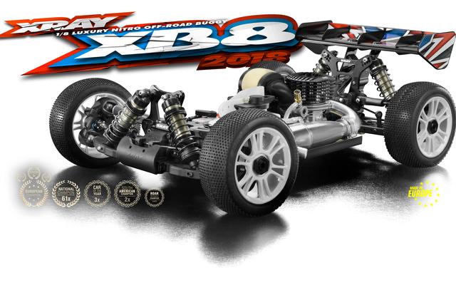 XRAY 2018 XB8 1_8 Nitro 4wd Buggy
