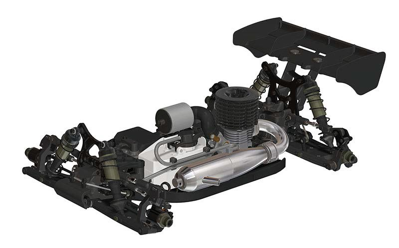 HB Racing D817 V2 1/8 4wd Off-Road Nitro Buggy