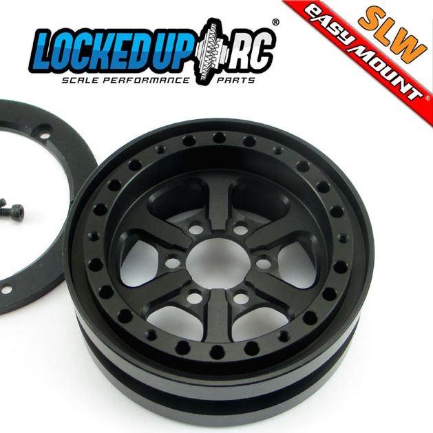 Locked Up RC 1.9 JDUB SLW Black Wheels