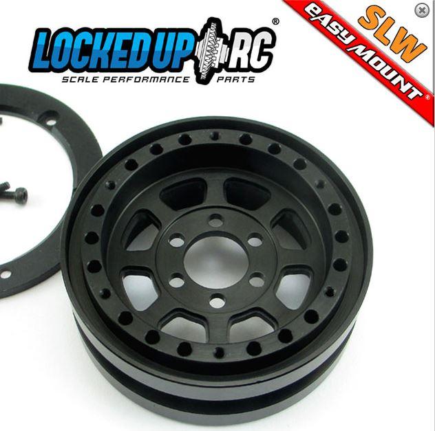 Locked Up RC 1.9 TrailReady HD SLW Black Wheels