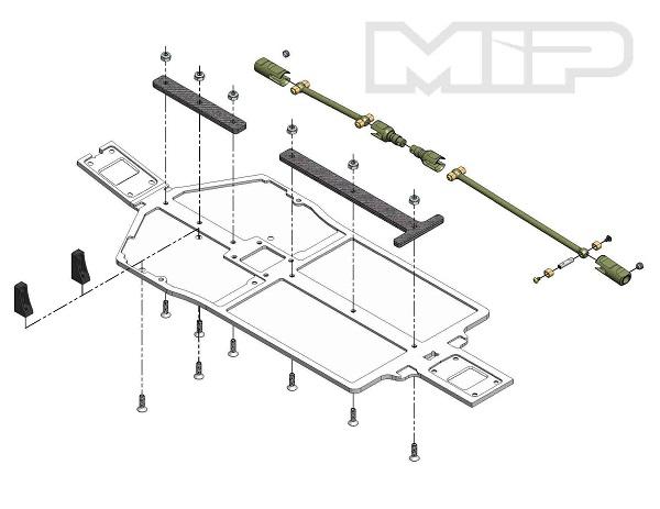 MIP Tekno EB410 Pro4mance Chassis Bundle Kit