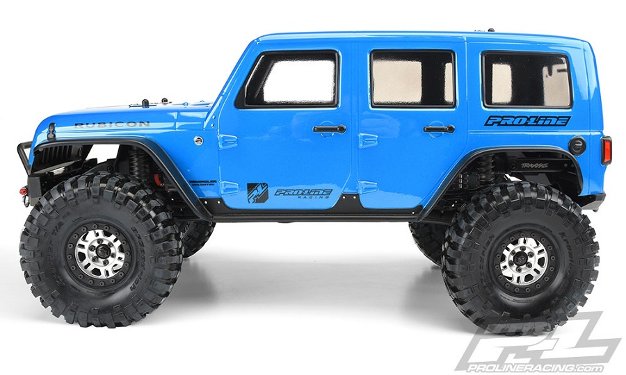 Pro-Line Jeep Wrangler Unlimited Rubicon Clear Body For The Traxxas TRX-4