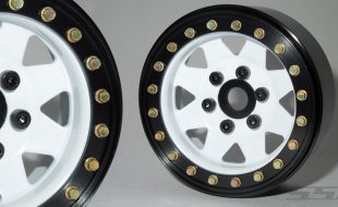 SSD 1.9″ Steel 8 Spoke Beadlock Wheels (White)