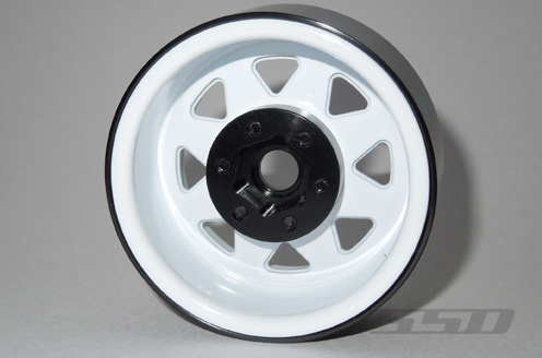 SSD 1.9 Steel 8 Spoke Beadlock Wheels (White)