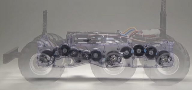 Check Out The Clear Gearbox On This Tamiya 6×6 Chassis