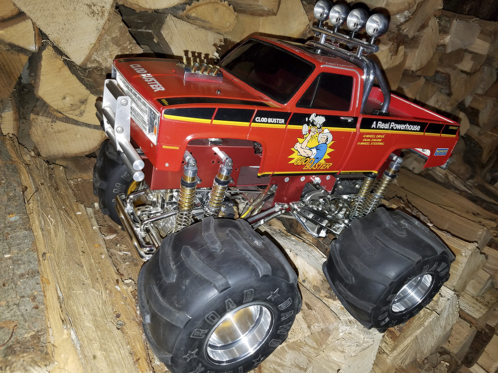 Tamiya Clod Buster, New Old Stock, NOS, Classic Monster Truck, Concours, concourse, CCP, Sassy Chassis, Trinity Gold, ESP, Maxx Traxx, APM, RAM, Sees