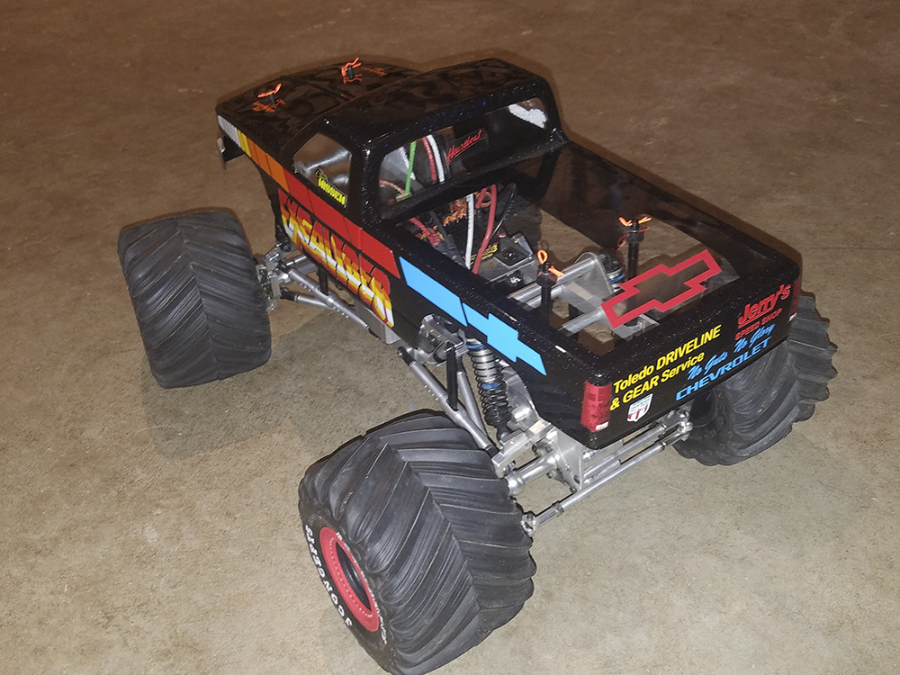 ESP Zilla 2, Monster Truck, Monster Jam, Chevy, Excaliber, Freestyle RC, CPE, RC4WD, Hesse, Hot Racing, Castle Creations, Gens Ace, Team Associated, JConcepts