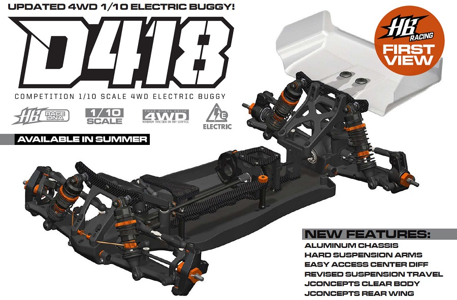 HB Racing D418 1/10 4WD Electric Buggy