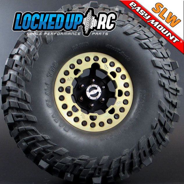 Locked Up RC 1.9 World Series Rings In Paintable Chromate