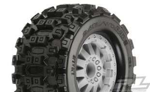 Pro-Line Badlands MX28 2.8″ Tires Mounted On F-11 Wheels