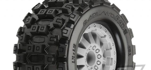 Pro-Line Badlands MX28 2.8″ Tires Mounted On F-11 Wheels