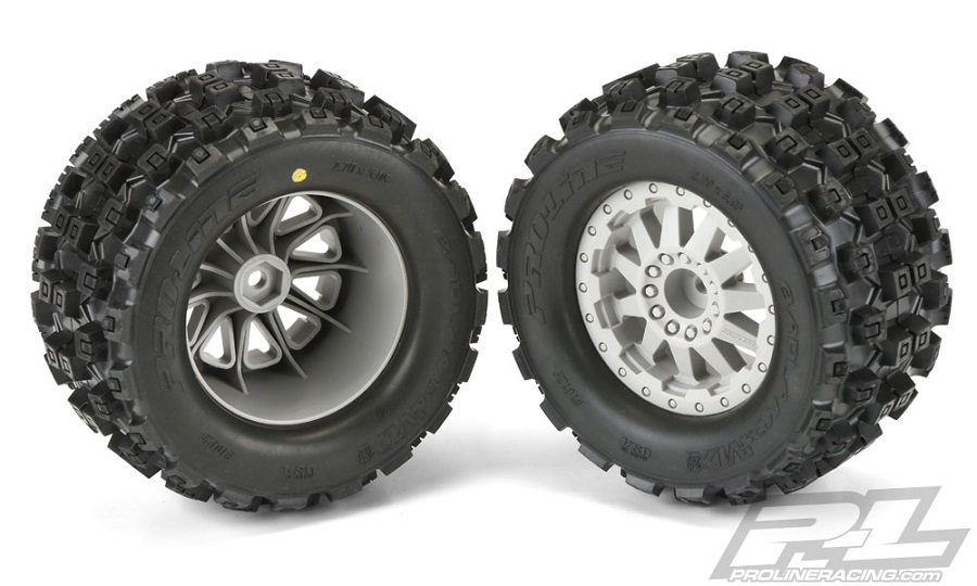 "Pro-Line Badlands MX28 2.8"" Tires Mounted On F-11 Wheels"