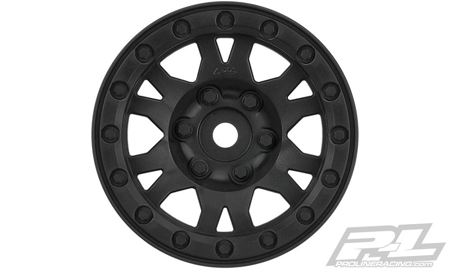 "Pro-Line Impulse 1.9"" Black Plastic Internal Bead-Loc Wheel"