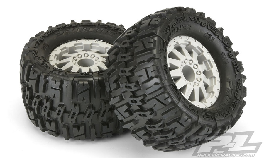 "Pro-Line Trencher 2.8"" Tires Mounted On F-11 Wheels"