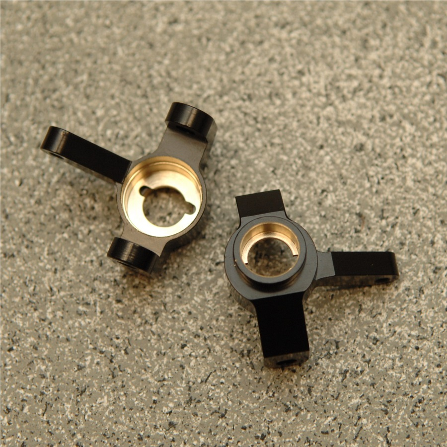 STRC Brass Front Steering Knuckles & Rear Lock-Outs For The Axial SCX10 II