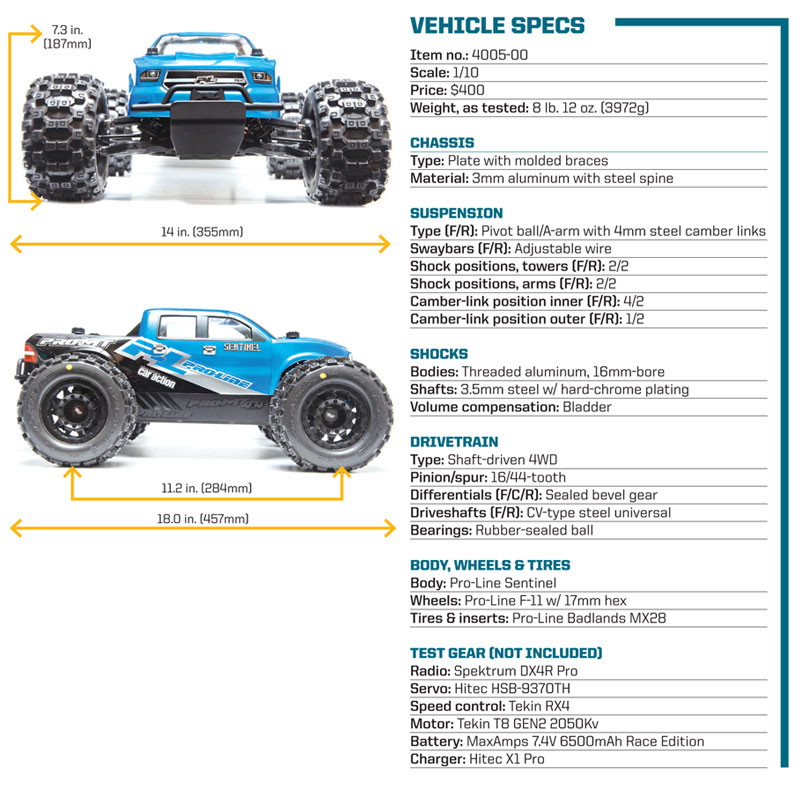 Pro-Line PRO-MT 4X4 - specifications