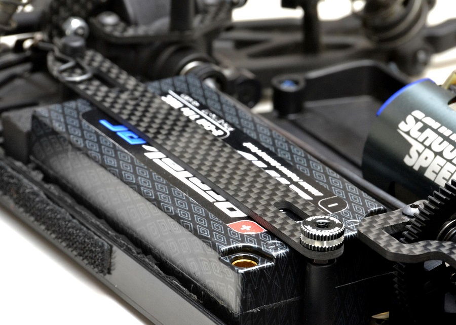 Exotek Carbon Fiber LiPo Strap & Twist Nut Set For The XB4