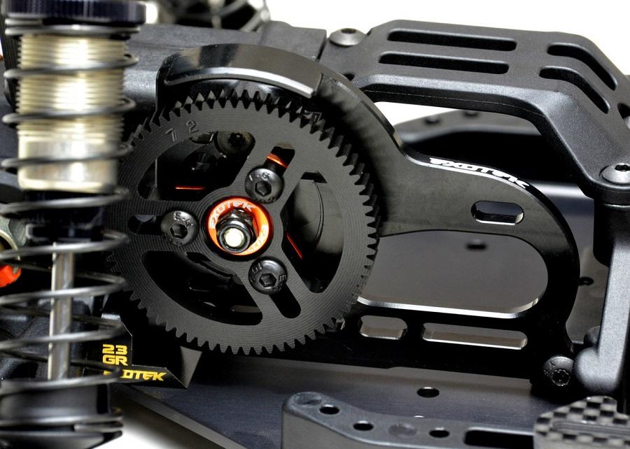 Exotek XB2 3 Gear Laydown Motor Plate & Spur Shield