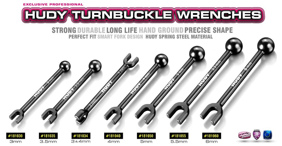 HUDY 3/4mm & 3.5mm Turnbuckle Wrenches